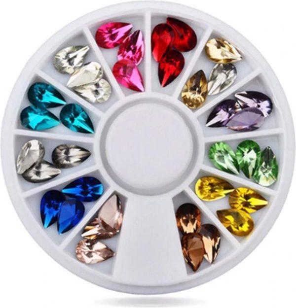 DW4Trading® Nagelversiering nail art acryl gel rhinestones carrousel 12