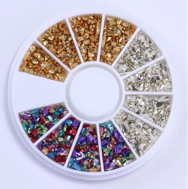 DW4Trading® Nagelversiering nail art acryl gel rhinestones carrousel 20
