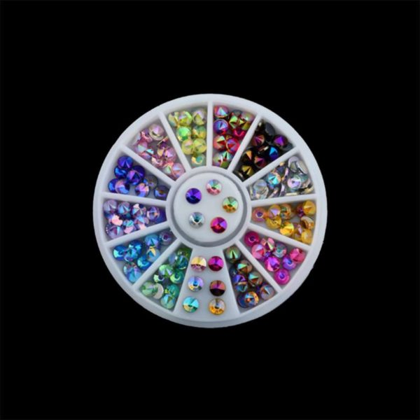 DW4Trading® Nagelversiering nail art acryl gel rhinestones carrousel 3