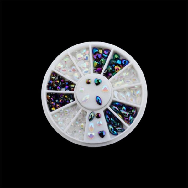 DW4Trading® Nagelversiering nail art acryl gel rhinestones carrousel 4