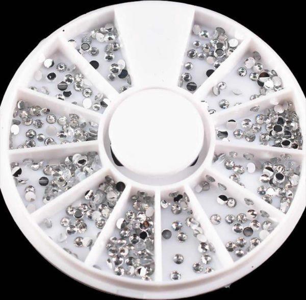DW4Trading® Nagelversiering nail art acryl gel rhinestones carrousel 8