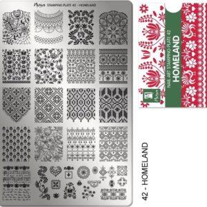 Daily Nail Moyra | Nail art stampingplate 42