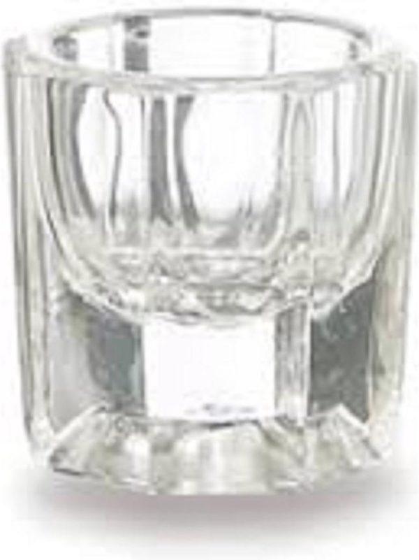 Dappendish (zeshoekig) - glas - voor het mengen van vloeistoffen en nagelproducten - zowel voor de professionele nagelstyliste als voor thuis