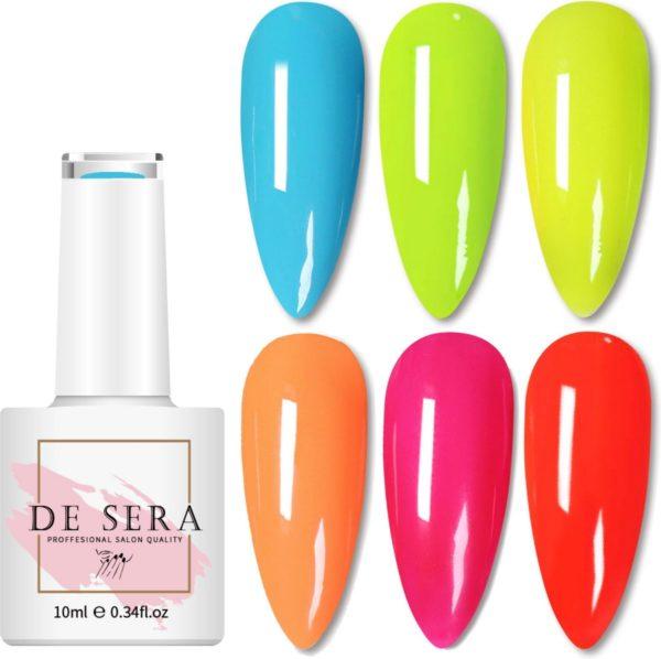 De Sera Gellak 6-delige Set - Gel Naggellak - Color Edition - Gellac - 10ML - Kleurrijke Kleuren