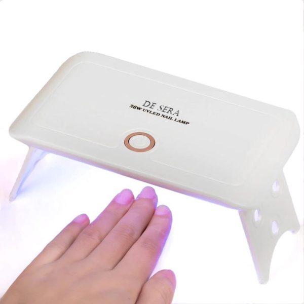De Sera UV Lamp Gelnagels - LED Lamp Nagels - Mini Gellak Lamp 36W - Nageldroger - Opvouwbaar - Wit