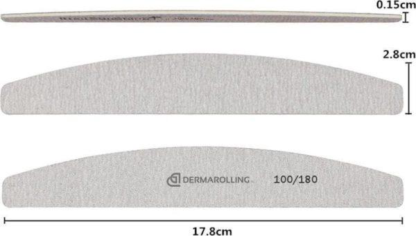 Dermarolling Professionele Nagelvijl Halve Maan Grit 100/180
