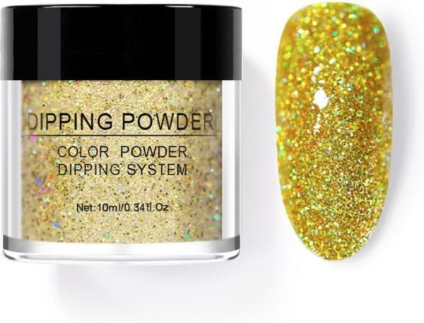 Dip poeder nagels - Golden Slumber - Glitter - Geschikt voor acryl nagels - Nail art - Dip powder - Born Pretty nagellak