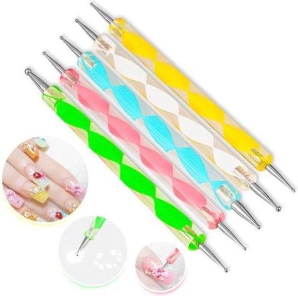 Druppelpen nail art - Dotting tool - 10 maten