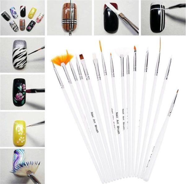 Druppelpennen Nail Art Acryl Penselen & Dotting Tool Set - Pen Kwastjes Gelnagels / Acryl Nagels
