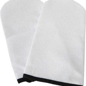 Een paar universele badstof paraffine handschoenen voor paraffine behandeling / pakking: nagelgroothandel Veronica NAIL-PRODUCTS