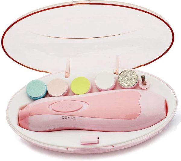 Electrische Baby Nagelknipper Nagelschaartje Nagelvijl Nageltrimmer Nagelsetje - Veilig en Zacht - voor Baby en Volwassenen - Ultra Stil (Slapend Knippen) - Draadloos