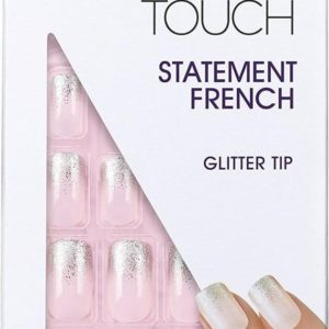 Elegant Touch Kunstnagels Statement French Glitter Tip 24 stuks+Lijm
