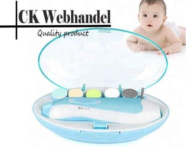 Elektrische Baby nagelknipper nagelschaartje nagelvijl nageltrimmer nagelsetje - veilig en zacht - voor baby en volwassenen - ultra stil (slapend knippen) - draadloos
