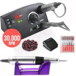 Elektrische Nagelfrees | Nagelvijl | Manicure | Pedicure | 6 Bitjes | 56 Schuurrollen | 30.000 RPM