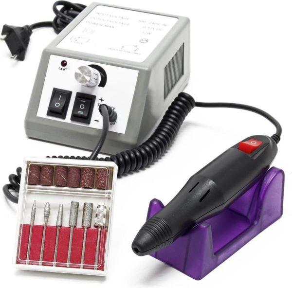 Elektrische nagelvijl Manicure pedicure Tool Machine 6 bits Wit