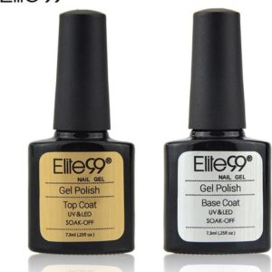 Elite 99 - Base & Top coat nagellak set - Gel nagellak - UV gellak set - Topcoat - Basecoat - 7.3 ml.