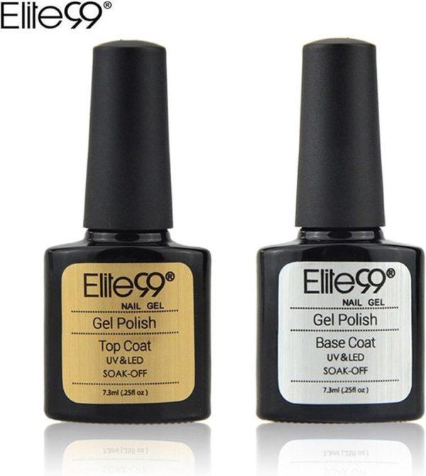 Elite 99 - Base & Top coat nagellak set - Gel nagellak - UV gellak set - Topcoat - Basecoat - 7.3 ml.