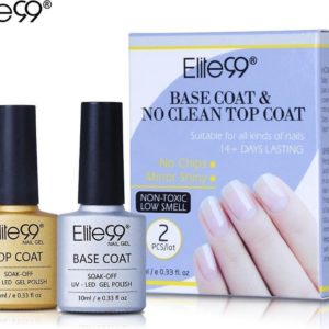 Elite99 - gellak - basecoat en topcoat set - UV/LED - gel nagels