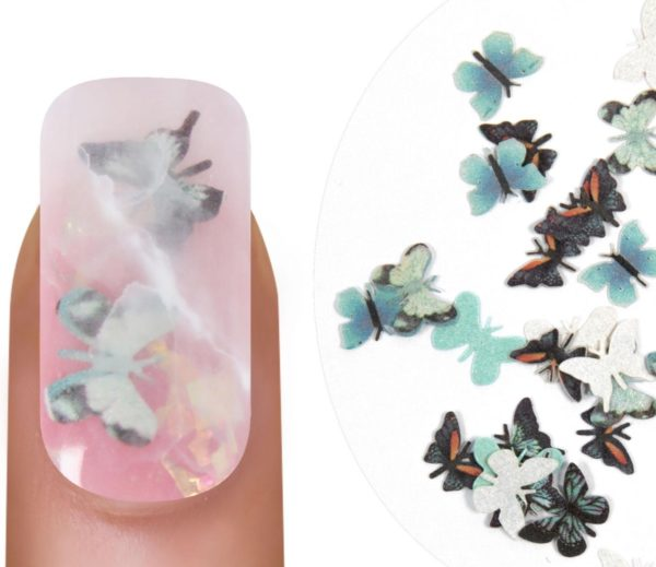 Emmi-Nail Butterflies Turquoise 2
