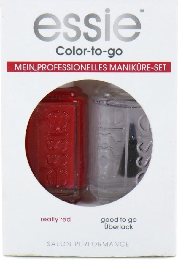 Essie Color-To-Go Nagellak - Really Red - Good To Go Topcoat (Duitse versie)