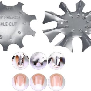 French Manicure Nagel tool - Nail Art - Sjabloon - Tip guide - Smile / clean cut voordeelset 2 stuks