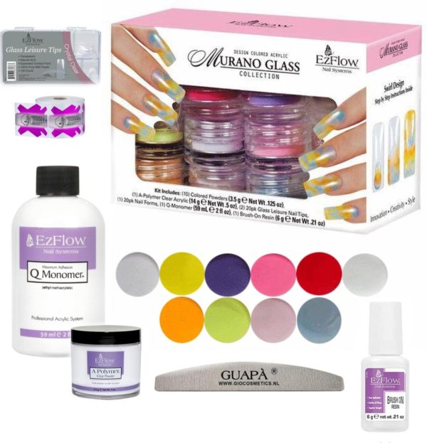 GUAP� Acryl Nagels Starterspakket 10 Kleuren Poeders Acryl - Acryl Nagels Starter Kit - Nail Art Set | Neon & Pastel
