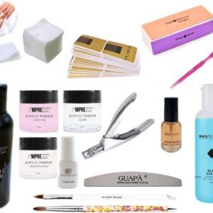 GUAP� Acryl Nagels Starterspakket Deluxe voor het maken van prachtige Acrylic Nagels - Inclusief 3 Acryl Poeders, Acryl Vloeistof en Acryl Penselen