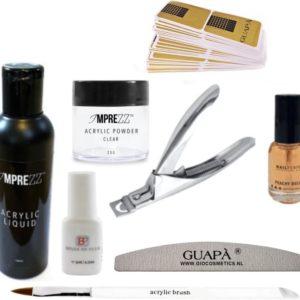 GUAP� Acryl Nagels Starterspakket voor het maken van prachtige Acrylic Nagels - Inclusief Acryl Poeder Clear, Acryl Vloeistof en Acryl Penselen