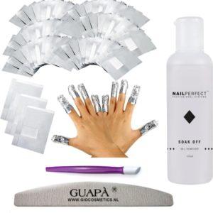 GUAP� Gellak Nagel Verwijderaar Set voor alle Gel Nagels | Gel Nagellak Remover | Soak Off Folie | Gel Verwijderaar Wraps