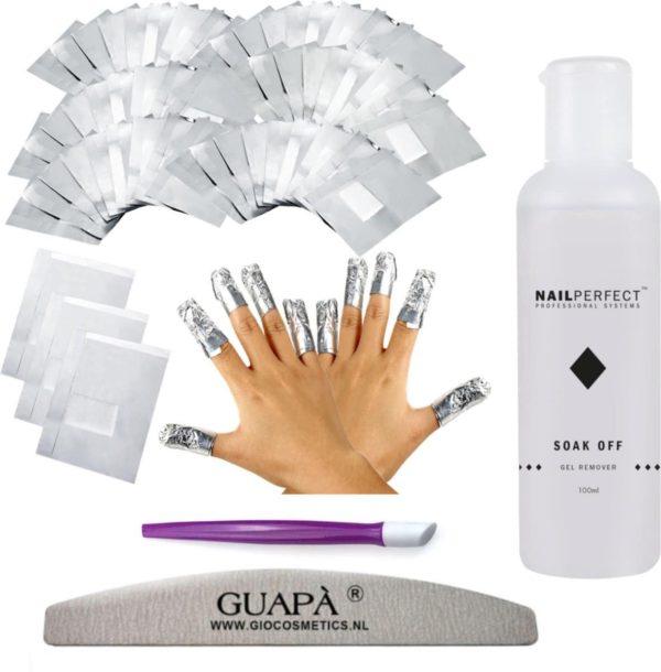 GUAP� Gellak Nagel Verwijderaar Set voor alle Gel Nagels   Gel Nagellak Remover   Soak Off Folie   Gel Verwijderaar Wraps