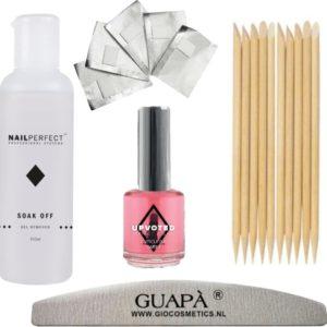 GUAP� Gellak Nagel Verwijderaar voor alle Gel Nagels | Gel Nagellak Remover | Soak Off Remover