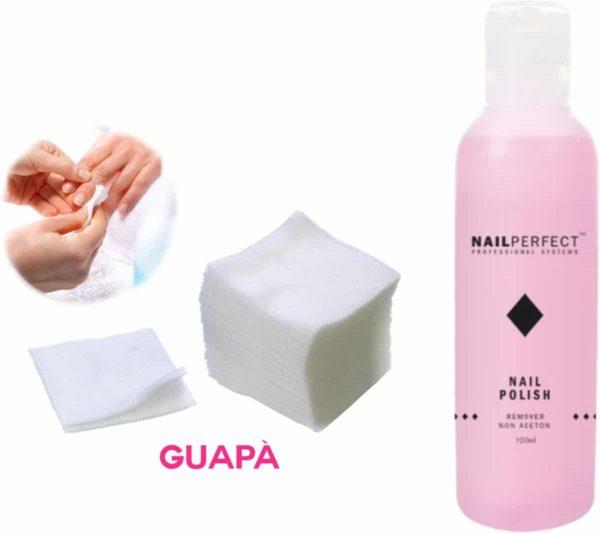 GUAP� Nagellak Remover Set met Pluis vrije Nail Wipes voor het reinigen en verwijderen van je Gel  Acryl   Poly Gel Nagels & Nagellak