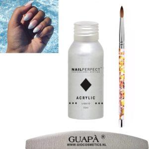 GUAP� acryl liquid set van professionele kwaliteit   acryl vloeistof  acrylic monomer   acryl penselen   50 ml
