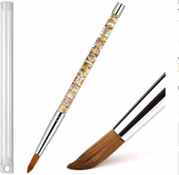 GUAPÀ - Acryl Glitter Goud Penseel Nr #8 - Uniek Design - High Quality & 100% Nylon - Nagel Penselen