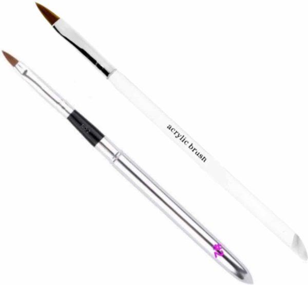 GUAPÀ - Acryl Penselen Duo Set Nr #2 & Nr #8 - High Quality & Echt Haar - Nagel Penselen