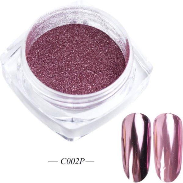 GUAPÀ - Holografische Glitter Poeder - Rosé - Nail Art & Nagel Decoratie Chrome Nails - 1 stuk