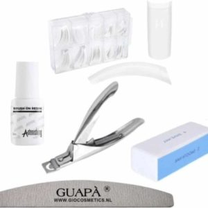 GUAPÀ - Nagelstudio At Home Nepnagels Set voor het maken van Nagelverlening, Acryl Nagels & Gel Nagels - 500 Wit French Manicure