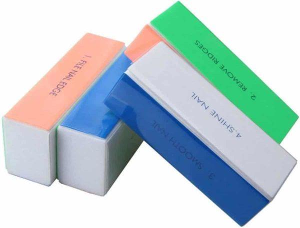 GUAPÀ Nagelvijl Buffer Blokvijl 4 steps voor natuurlijke nagels - Set van 3 stuks - Manicure en Pedicure vijl