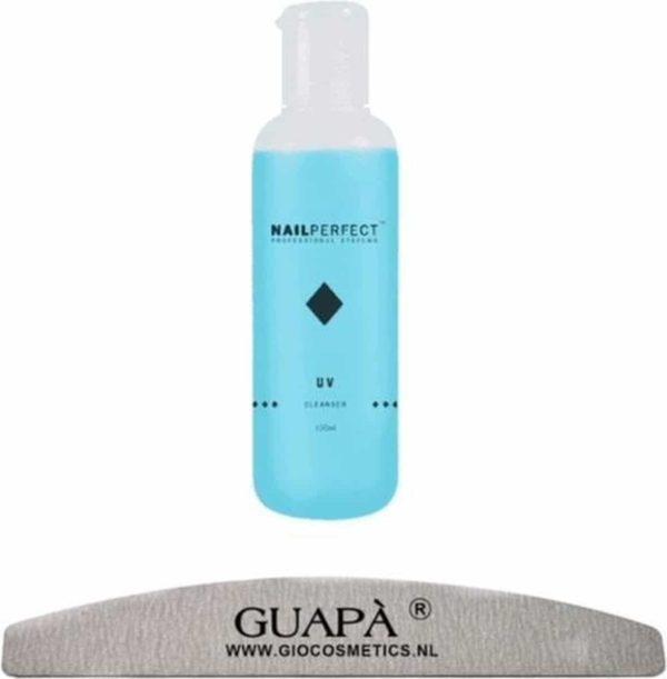 GUAPÀ - UV Cleanser voor het verwijderen van de Gel Plaklaag inclusief een Nagelvijl Moon 100/180 - 100 ml