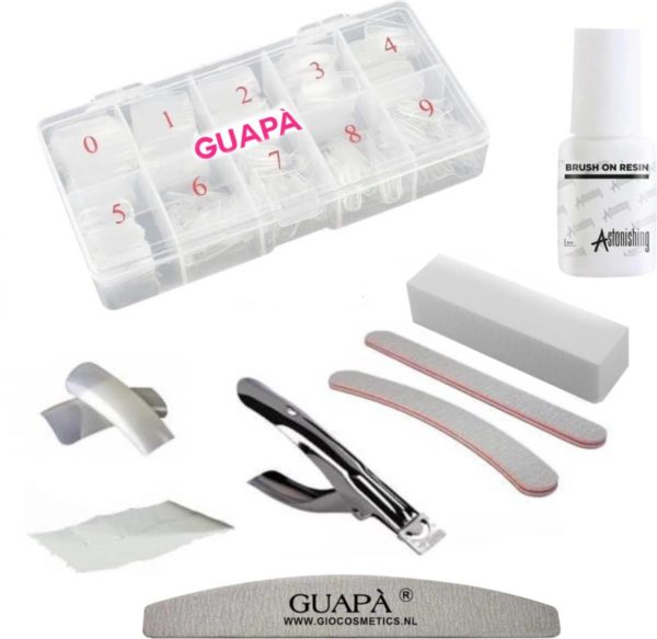 GUAPÀ - Uitgebreide nagelverlenging set voor Acryl en Gel Nagels - Compleet Transparant Nepnagels Pakket