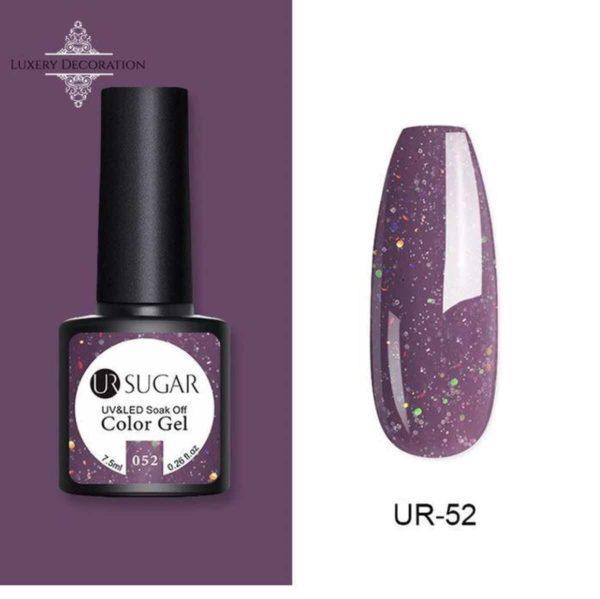 Gel Nagellak Glitter Paars 7,5 ml- Gellak- UV/LED nagellak