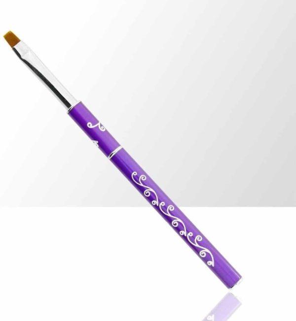 Gel-Penseel Paars #6 - Nail Brush - Gel penseel -Nagel Penselen - Nagel Gel - Nagel Kwasten