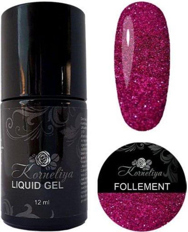 Gellak - Korneliya Liquid Gel Moulin Rouge FOLLEMENT 12ml