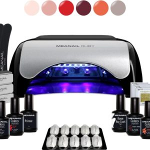 Gellak - MEANAIL® Kit Ruby - UV/Led lamp 48w - 6 kleuren Vegan - Gelnagellak