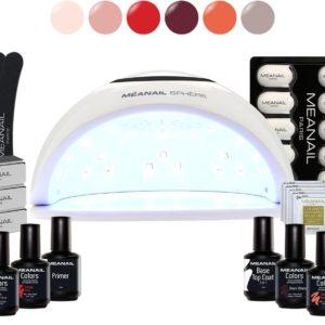 Gellak - MEANAIL® Kit Sphere UV/LED lamp 48w - 6 kleuren Cruelty Free - Gel nagellak