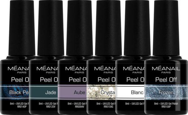 Gellak - MEANAIL 6 kleuren PEEL OFF - Vegan - MYSTERY - Gel Nagellak