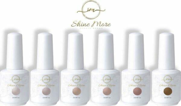 Gellak - Shinemore ® - Nude - 6 kleuren gel nagellak