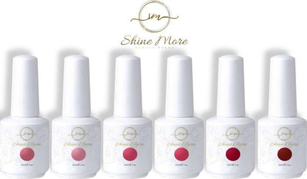 Gellak - Shinemore ® - Pink - 6 kleuren gel nagellak
