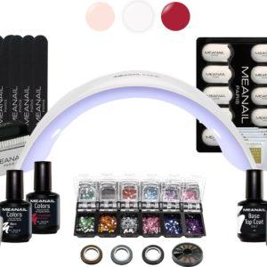 Gellak Starterspakket- MEANAIL®DESIGN deluxe kit - UV LED Lamp voor gelnagellak
