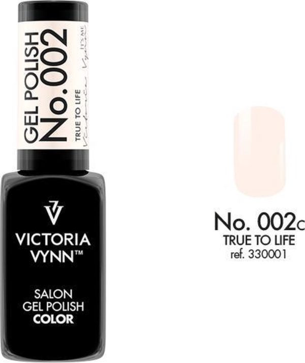 Gellak Victoria Vynn™ Gel Nagellak - Salon Gel Polish Color 002 - 8 ml. - True To Life
